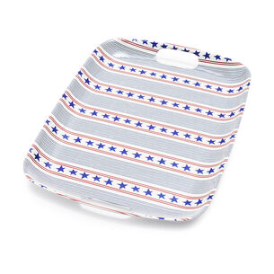 "Stars & Stripes Melamine Tray, 19"" x 13.7"""