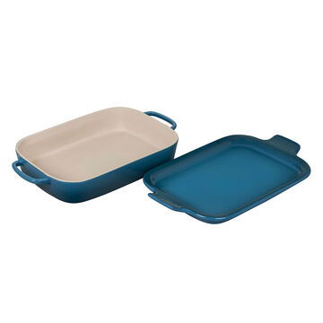 Le Creuset Rectangular Baker with Platter Lid