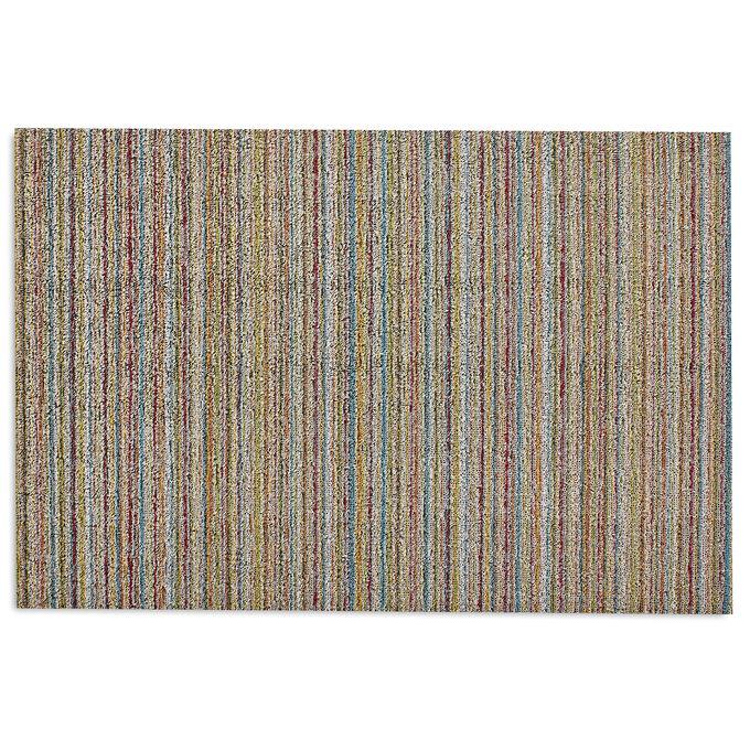 Chilewich Skinny Stripe Shag Mat, Soft Multi