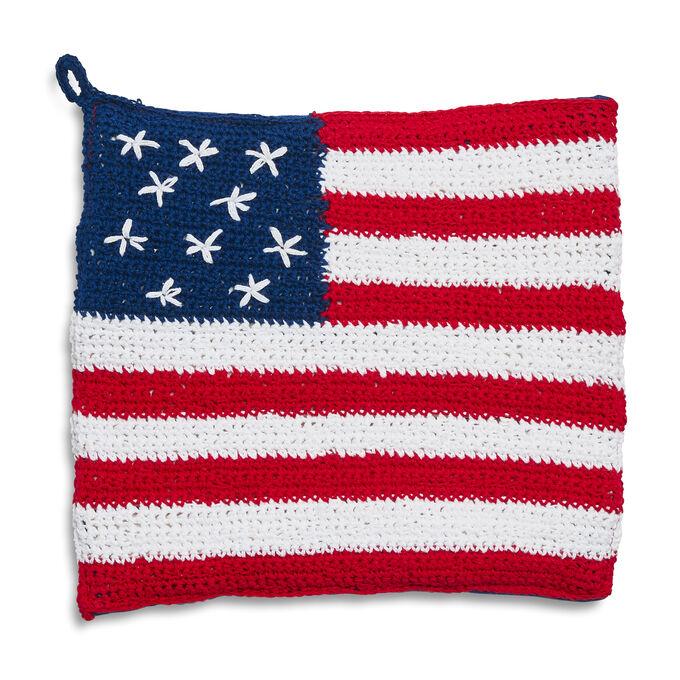 Crochet Flag Pot Holder