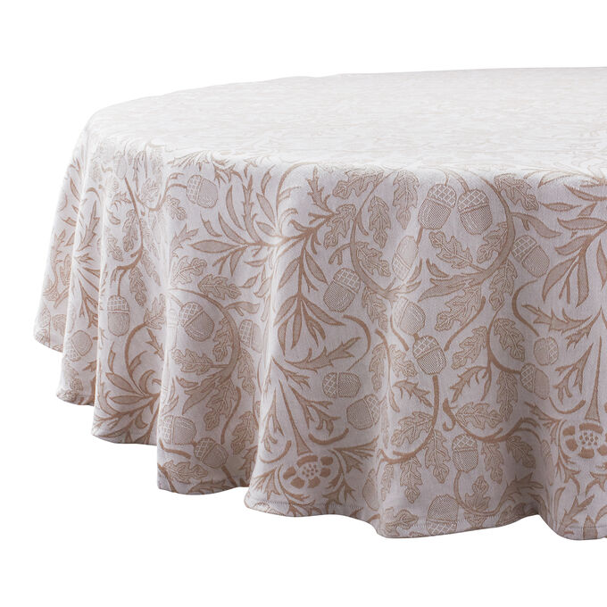Acorn Jacquard Tablecloth