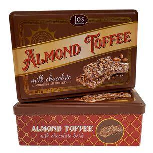 Jo's Candies Milk Chocolate Almond Toffee Bark Gift Tin