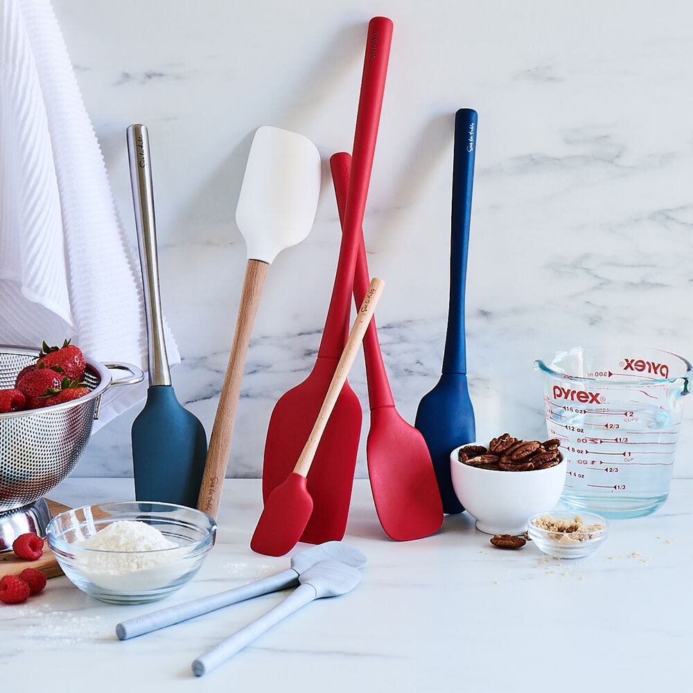 Sur La Table Flex-Core Silicone Spatula Spoon with Wood Handle