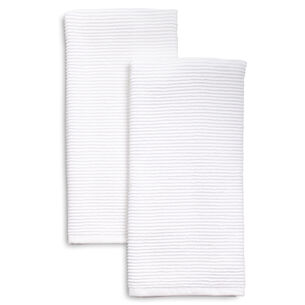 """Ribbed Kitchen Towels, 30"""" x 20"""", Set of 2"""