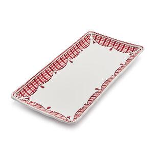 Red Gingham Rectangle Platter