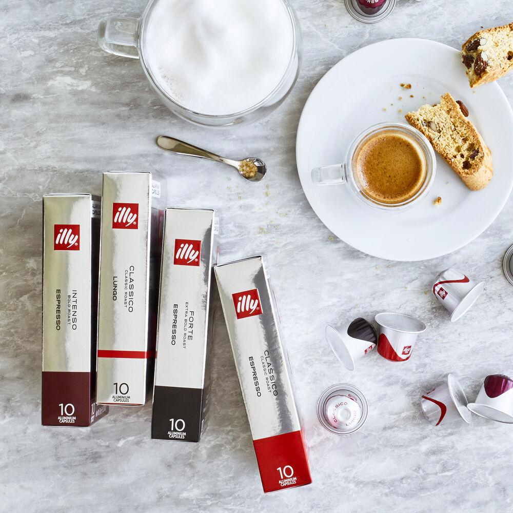 illy Espresso Forte Aluminium Capsules, Extra Bold Roast