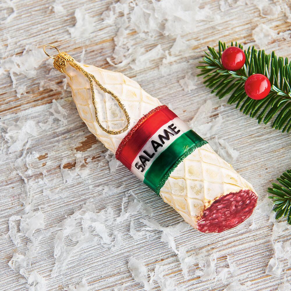Italian Salami Glass Ornament