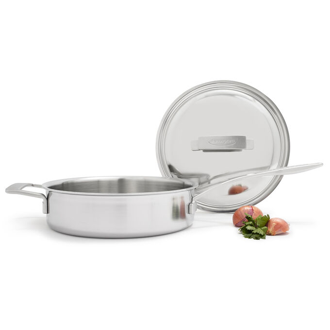 Demeyere Industry5 Sauté Pans with Thermo Lid, 3 qt.