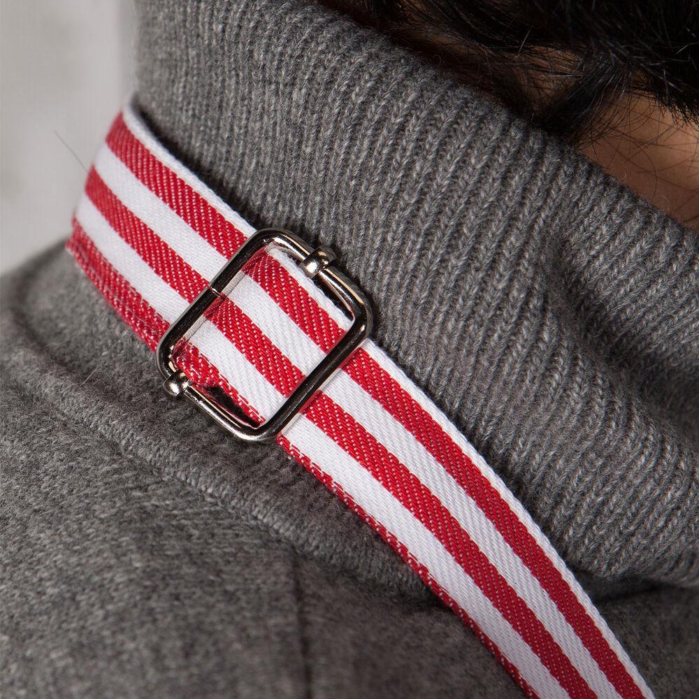 Red Narrow Stripe Apron