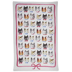 "Cat Kitchen Towel, 28"" x 18"""