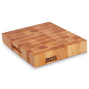 "John Boos End-Grain Maple Reversible Chopping Block, 18"" x 18"""