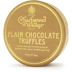 Charbonnel et Walker Gold Flake Dark Chocolate Truffles, 4 oz.