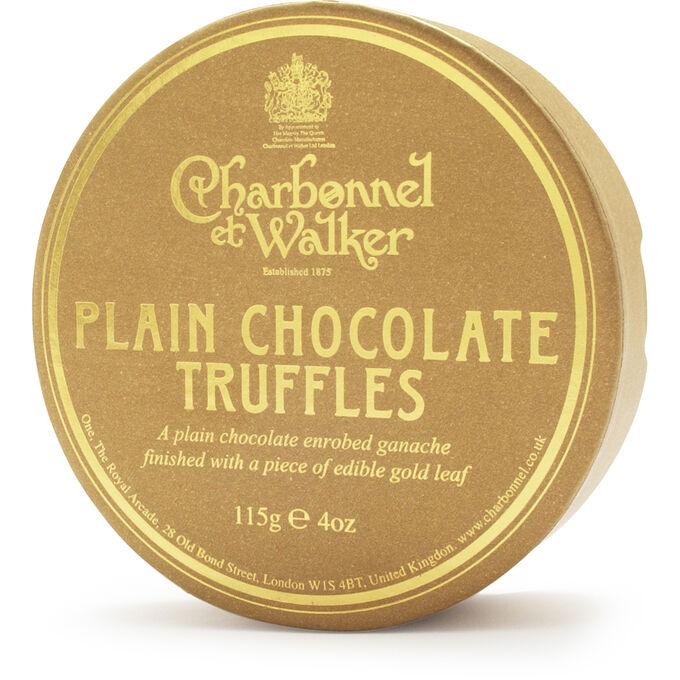 Charbonnel et Walker Gold Flake Dark Chocolate Truffles, 4 oz.
