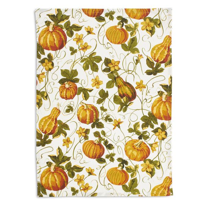 """Pumpkin Vine Kitchen Towel, 28"""" x 20"""""""