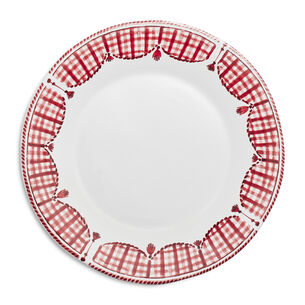 Red Gingham Charger