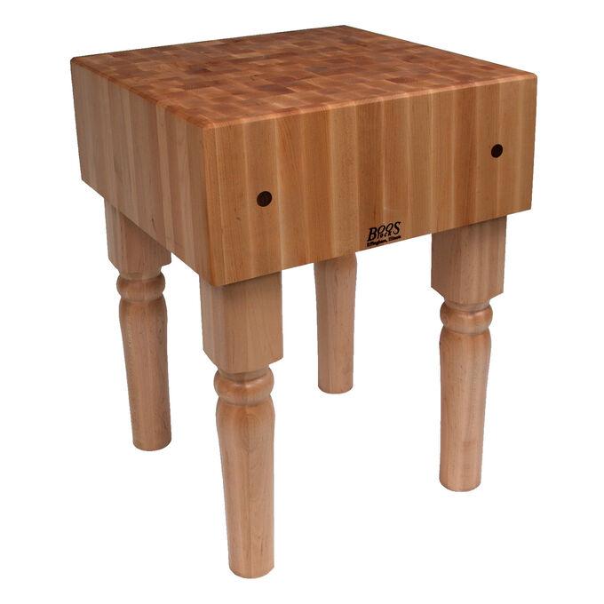"John Boos & Co. Butcher Block Table, 18"" x 18"" x 34"""