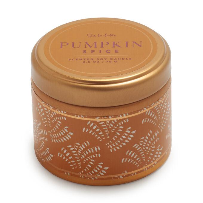 Tin Pumpkin Spice Soy Candle, 2.5 oz.