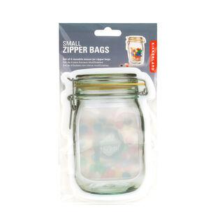 Kikkerland Mason Jar Zipper Bags, Set of 4