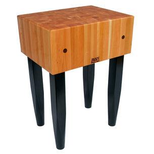"John Boos & Co. Le Bloc Cherry Butcher Block Table, 24"" x 18"""
