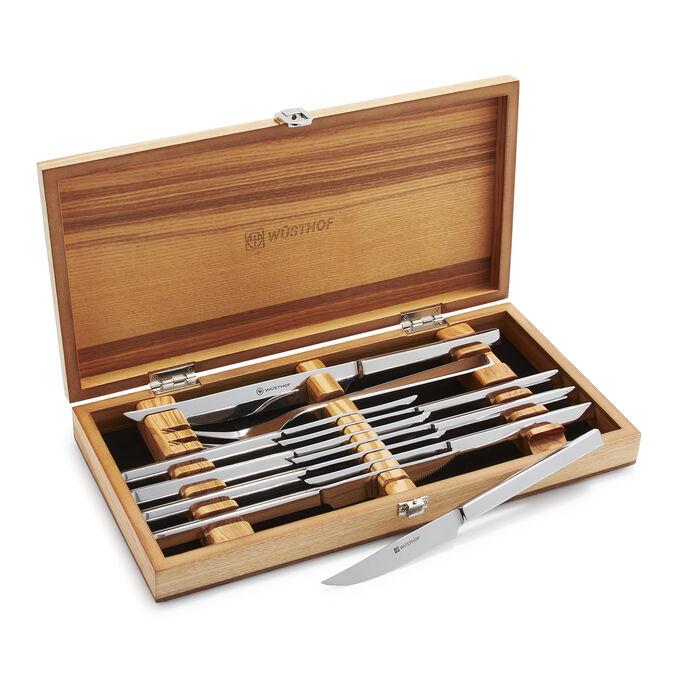 Wüsthof 10-Piece Steak and Carving Knife Set