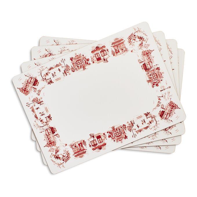 Snowflake Lane Cork Placemats, Set of 4