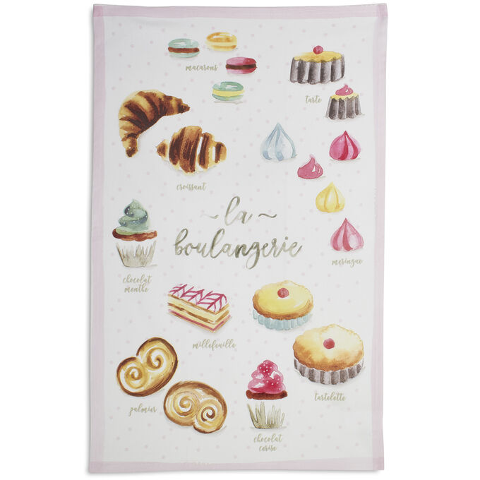 "French Desserts Kitchen Towel, 28"" x 18"""