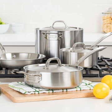 Viking Professional 5ply Stainless Steel 7-Piece Cookware Set