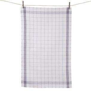 Tissage de L'Ouest Window Pane Blue Towels, Set of 2