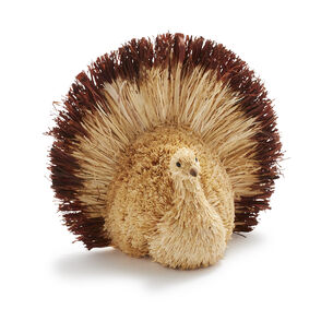 Corn Husk Turkey Decor