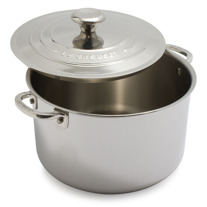 Le Creuset Stainless Steel Stockpot, 7 qt.