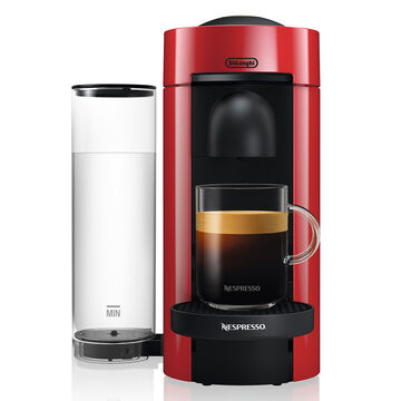 Nespresso VertuoPlus by De'Longhi with Aeroccino3 Frother, Red