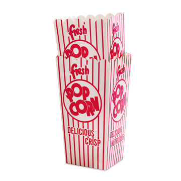 Retro Paper Popcorn Box