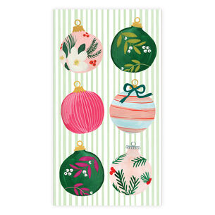 Painted Ornaments Guest Napkins, Set of 15