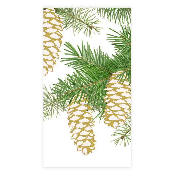 Pinecone Guest Napkins, Set of 15