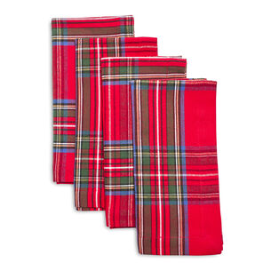Christmas Plaid Napkins, Set of 4