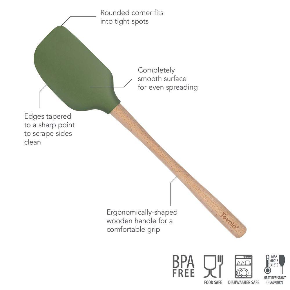 Tovolo Flex-Core Silicone Spatula with Wood Handle