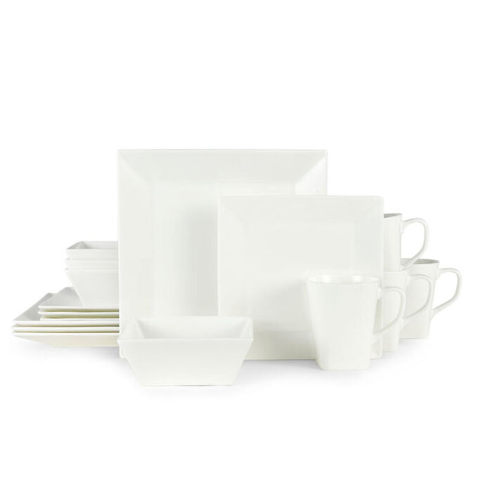 Delray Square 16-Piece Bone China Dinnerware Set