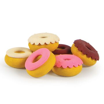 Fred Sweet Mistakes Scented Donut Erasers, Set of 6