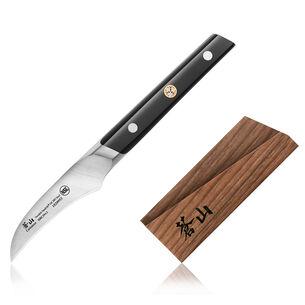 "Cangshan TC Series Swedish Sandvik Steel Forged Peeling Knife & Wood Sheath Set, 2.75"""