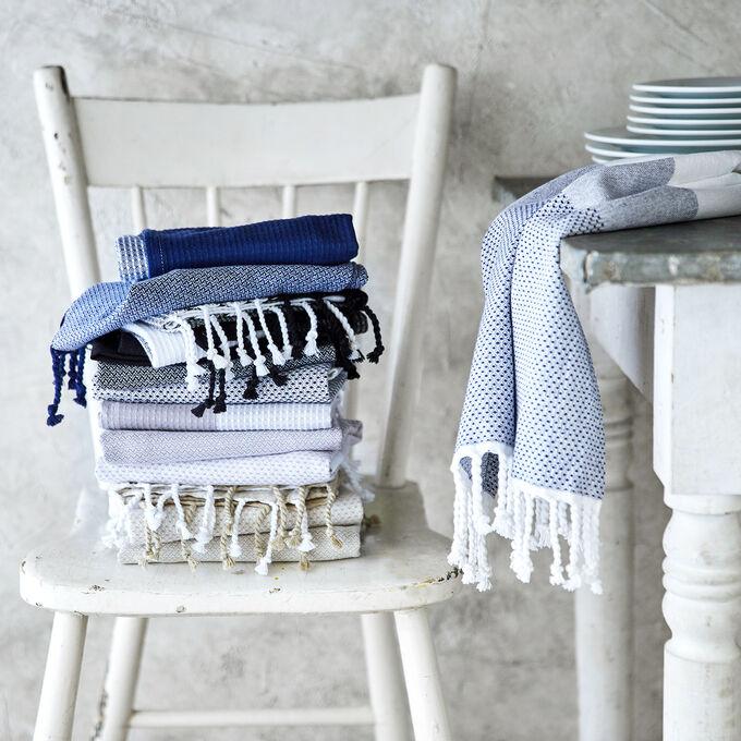 "Assorted Tassel Towels, 28"" x 20"", Set of 3"