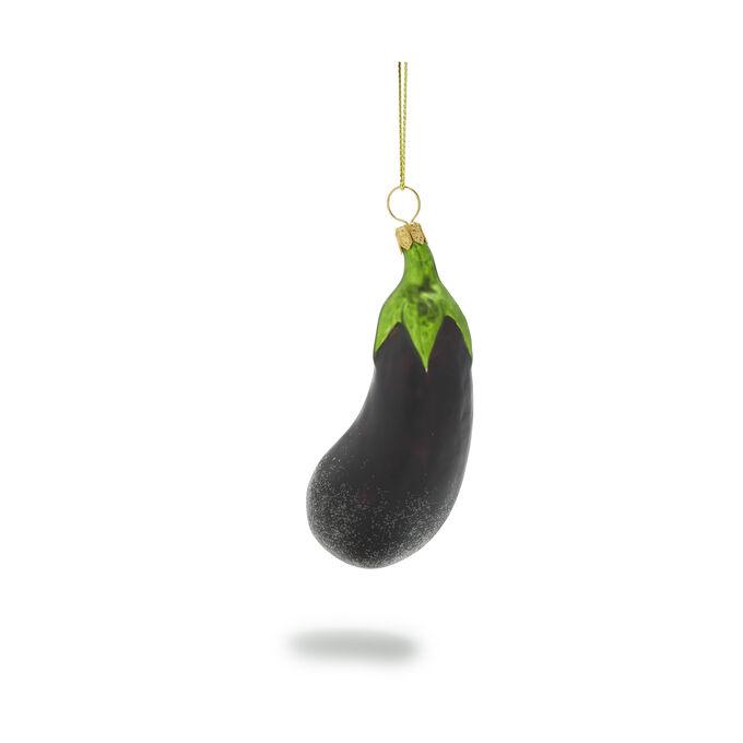 Eggplant Glass Ornament