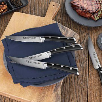 "Cangshan TS Series Swedish Sandvik Steel Forged Steak Knives, Set of 4, 5"""