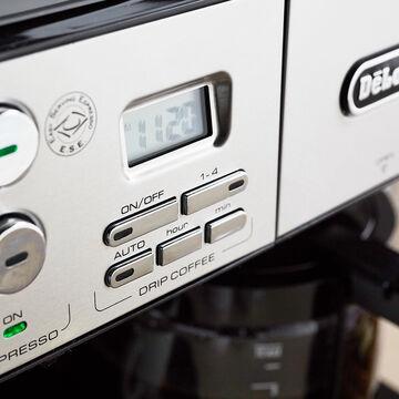 De'Longhi Combination Pump Espresso and 10-Cup Drip Coffee Machine with Advanced Cappuccino System