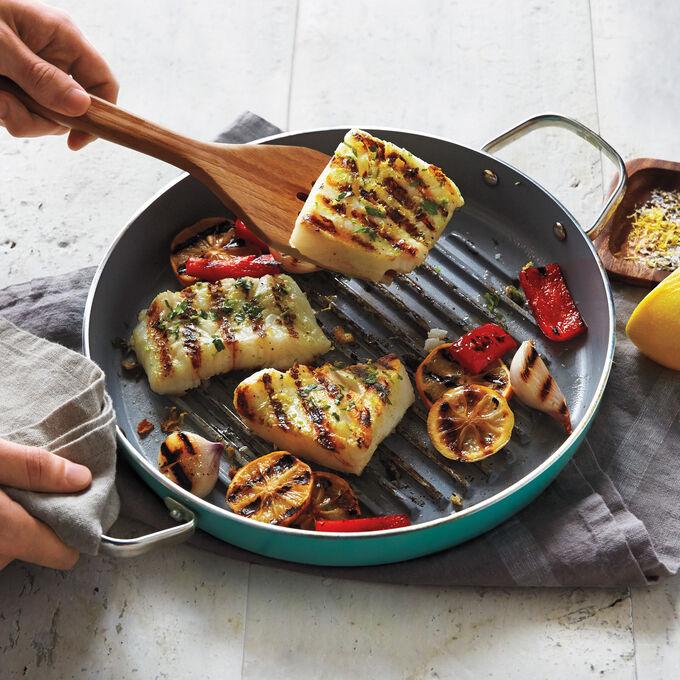 "GreenPan for Sur La Table Healthy Ceramic Nonstick Grill Pan, 11"""