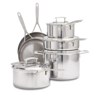 Demeyere Industry5 10-Piece Cookware Set with Thermo Lids