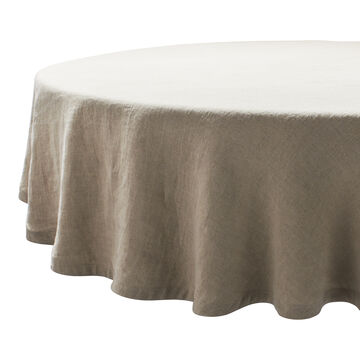 """Round Linen Tablecloth, 70"""""""