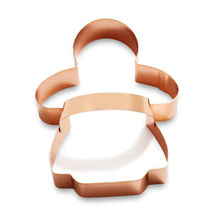 Copper-Plated Gingerbread Girl Cookie Cutter with Handle