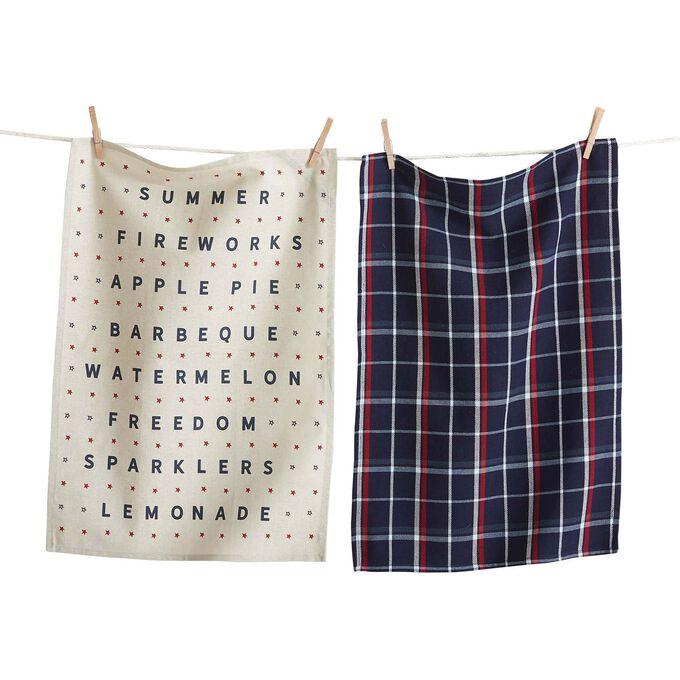 Americana Summer Kitchen Towels, Set of 2