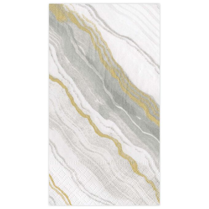 Marble Grey Guest Napkins, Set of 15
