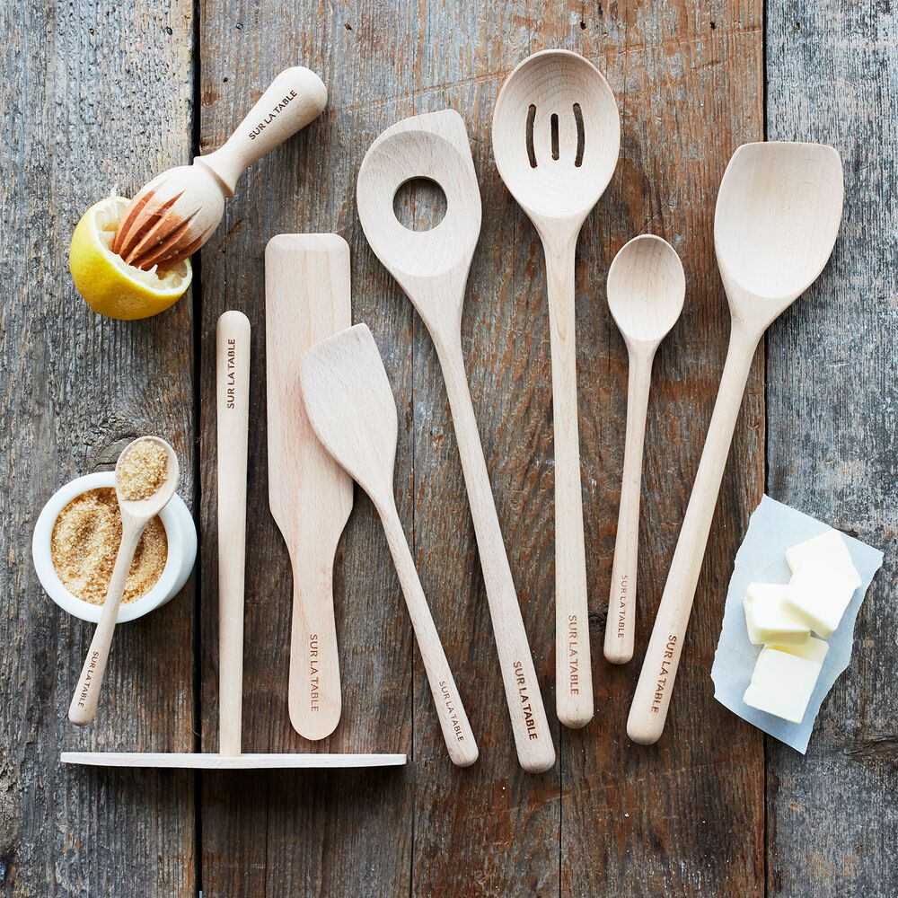 Sur La Table Beechwood Risotto Spoon